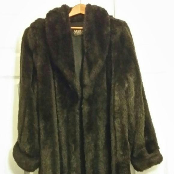 Jackets Amp Coats Monterey Fashions Faux Fur Coat Poshmark