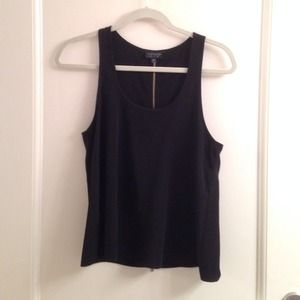 Topshop Tops - Black tank with gold zipper in back