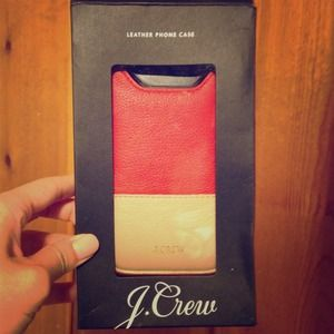 J. Crew Leather iPhone Case