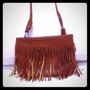 Handbags - 🎉2xHP🎉 Brown Fringe Tassel Crossbody