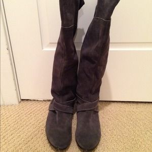 Grey Suede Tall Chinese Laundry Boots