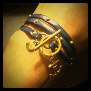 Studded Anchor Wrap bracelet
