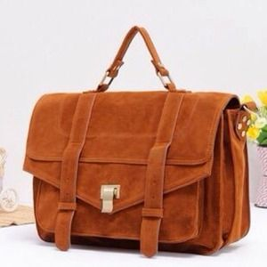 Handbags - Brown suede messenger bag