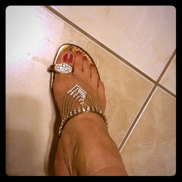 Blossson collection Shoes - Beautiful blinged out slip in sandtrading price  55 51b499c10f