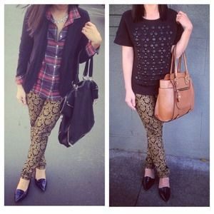 Baroque print jeggings