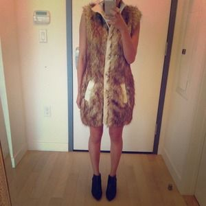 Rachel Zoe fur vest for sale