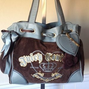Juicy Couture Handbags - Juicy Couture Choco Blue Daydreamer Bag