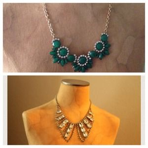 Jewelry - Emerald starblossom bib necklace + bib necklace