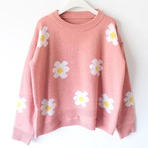 daisy sweater pink