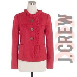 🎉HP!🎉 J. Crew Fiona herringbone jacket in pink