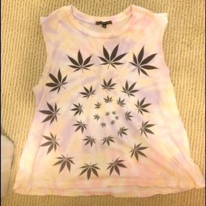 Weed tank from urban outfitters size small.