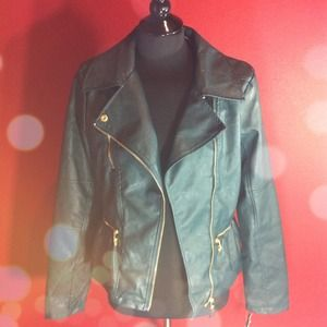 Steve Madden Hunter Green Leather Jacket!