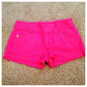 Express Shorts - Express pink shorts and blue top bundle