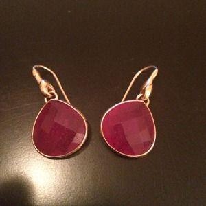 Stella & Dot Jewelry - Stella & Dot magenta earrings
