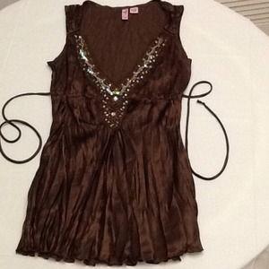 Satin tunic style top