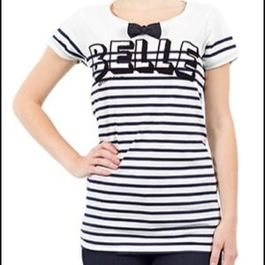 NEW Maison Scotch Belle Bow Tie Tee