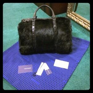 Black Rebecca Minkoff Riley bag *fur & leather*