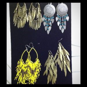 Tribal inspired earrings