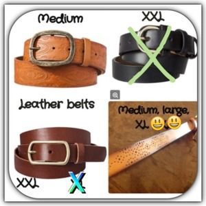 Accessories - New genuine leather belts. Sold separately