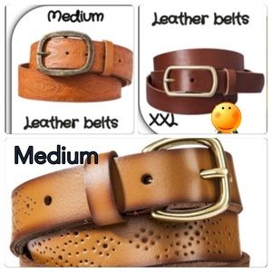 New genuine leather belts. Sold separately
