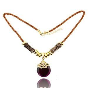 Jewelry - Fashion purple crystal necklace