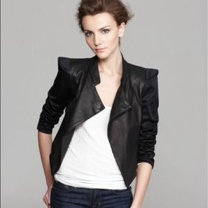 Alice + Olivia luzia leather Moto jacket
