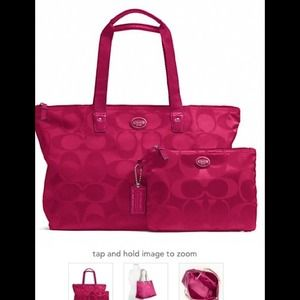 Coach Getaway Signature Nylon Packable Weekender