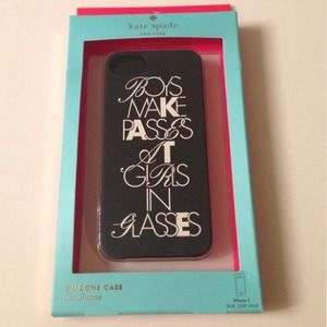 kate spade 'boys make passes' iPhone 5/5c case