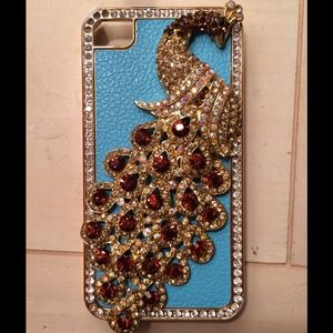 iPhone 4/4s Case! Beautiful blue peacock