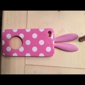 Pink Bunny iPhone 4/4s case! Perfect condition