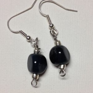 Navy dangle Earrings