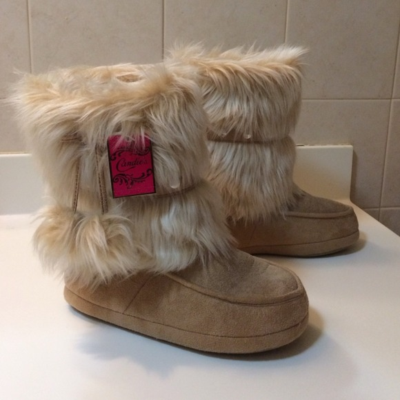 38% off Candies Boots - Candies Fur Slipper Boots from ...