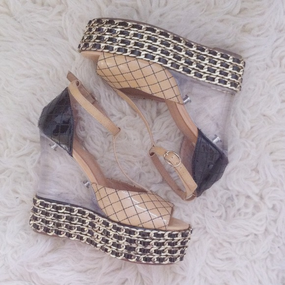 Jeffrey Campbell Shoes - {sale} jc lucite wedges