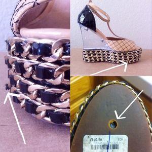 Jeffrey Campbell Shoes - {sale} jc lucite wedges