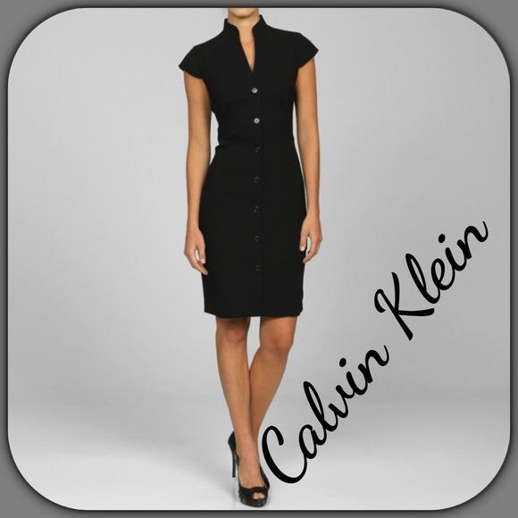 Calvin Klein Dresses Black Cap Sleeve Dress Poshmark