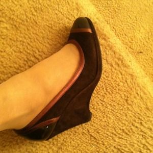 Coach Brown wedges(kerryann)
