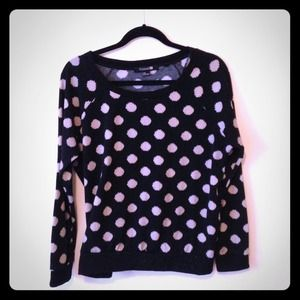 Black & Camel Polka Dot Sweater