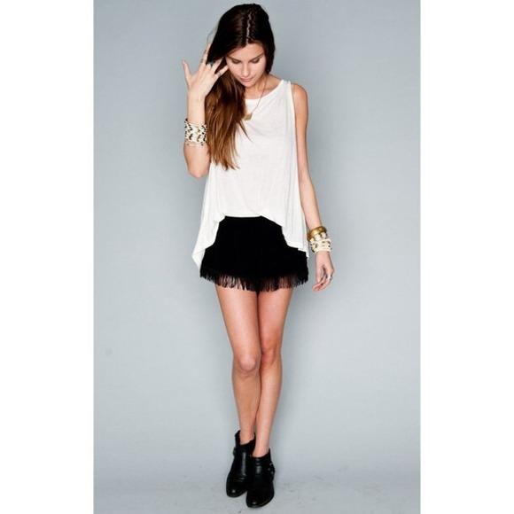 45e0d497b Shorts | Black Crochet Lace Fringe | Poshmark