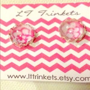 Lilly Pulitzer print stud earrings