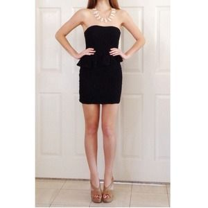 NWOT! Lace peplum dress