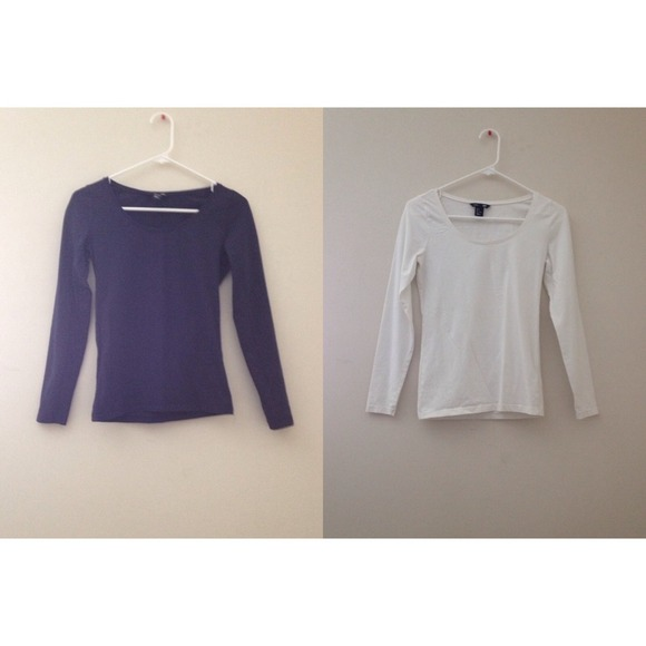 H&M - NWOT navy and white basic H&M long sleeve shirt from ...