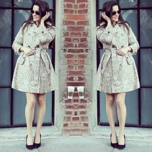 Banana Republic Outerwear - Leopard Print Trench