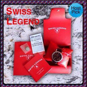 Swiss Legend Other - Swiss Legend Watch Black Gen. Ostrich Strap Unisex