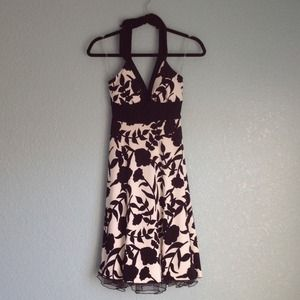 Floral Halter Special Occasion Dress