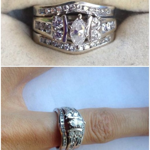 f4ed8b9de Kay Jewelers Jewelry - 14ct white gold wedding band and engagement ring