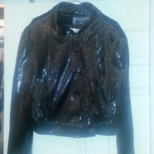designer original Jackets & Blazers - Brown sequined