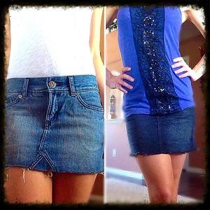 2 Denim Mini skirt bundle