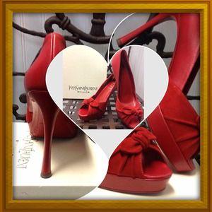 Yves Saint Laurent Shoes - Yves Saint Laurent Red Shoes