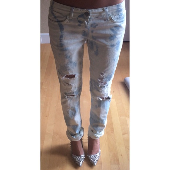 77% off J Brand Denim - J Brand || Bleached Distressed Boyfriend ...