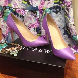 J. Crew Everly Satin Pump